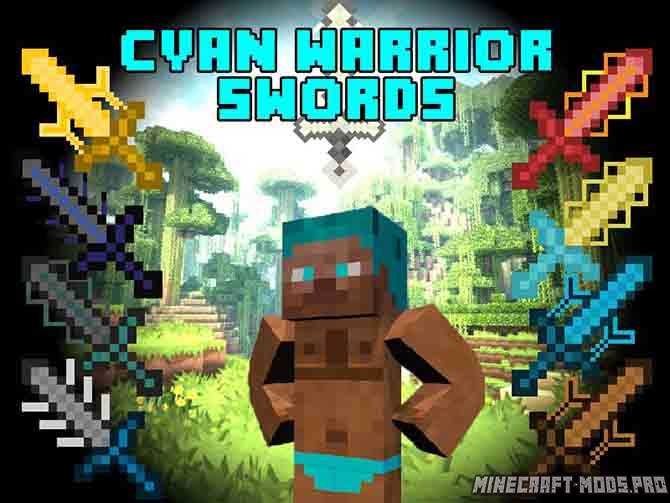 Cyan Warrior Swords