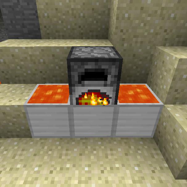 картинка Мод печь с лавой