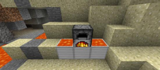 фото Мод печь с лавой