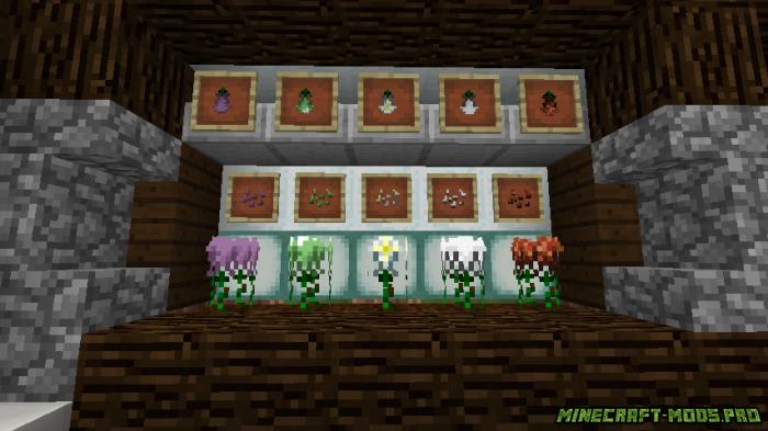 скриншот фото Мод Растения и Цветы