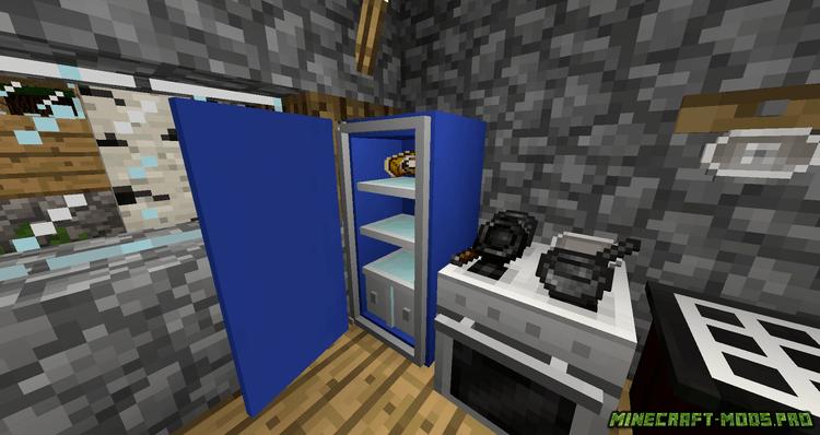 картинка Мод техника для кухни (холодильник, плита)
