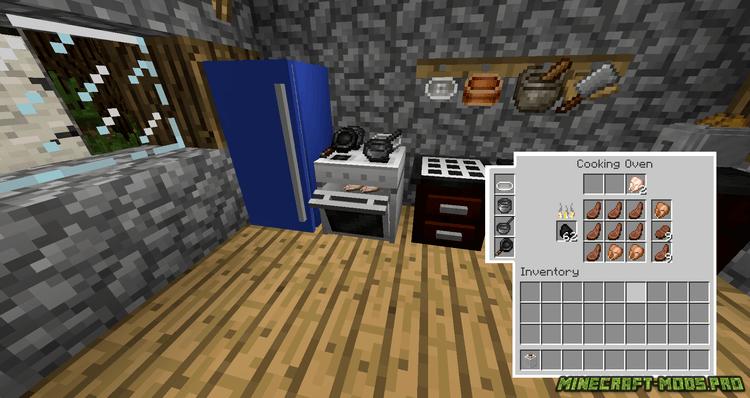 скриншот фото Мод техника для кухни (холодильник, плита)