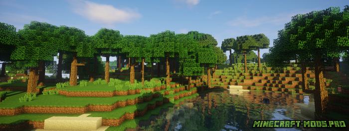 скриншот фото Мод Новые Виды Деревьев
