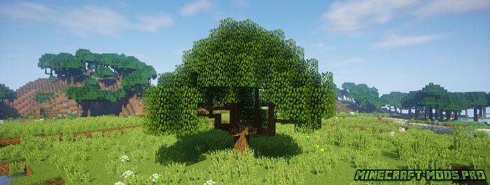 скрин Мод Новые Виды Деревьев