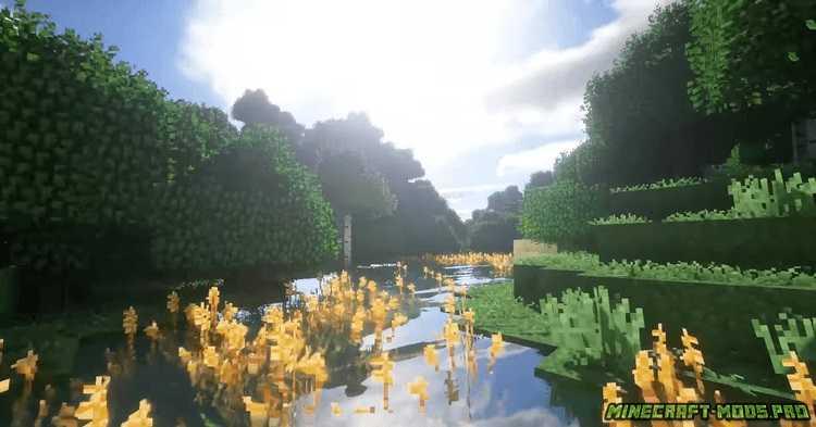 скриншот фото Мод Улучшенные Листья