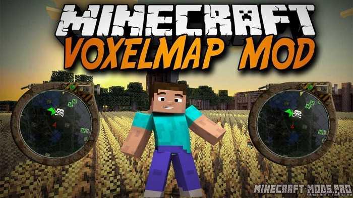 Мод VoxelMap мини-карта