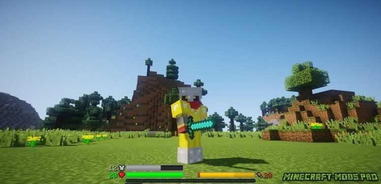 Мод Новое отображение HP скриншот