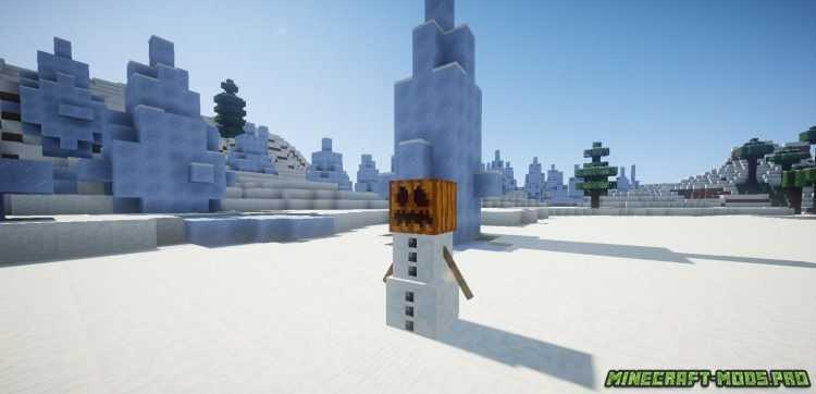 скриншот фото Мод Новый Боевой Снеговик