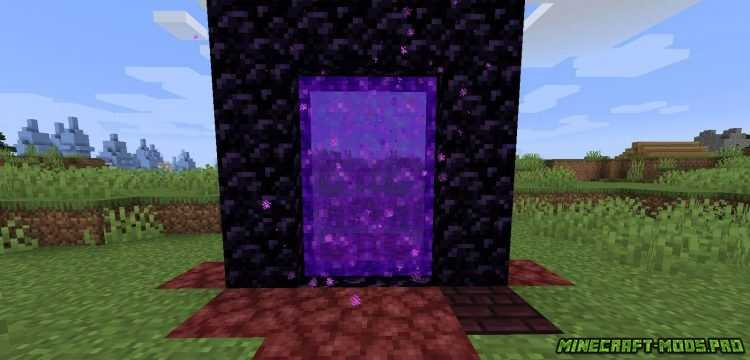 скрин Мод Nether Portal Spread