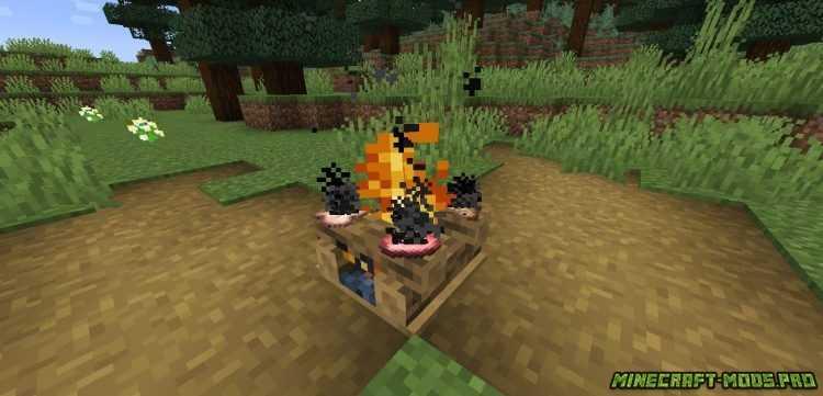 скрин Мод Цветной Дым Colorful Campfire Smoke
