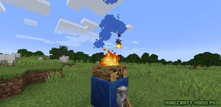 Мод Цветной Дым Colorful Campfire Smoke скриншот