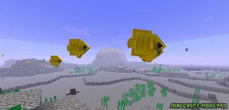 скриншот фото Мод Предметы подводного мира