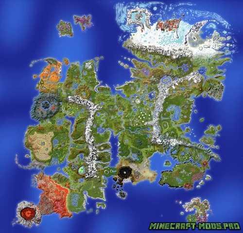 Огромная карта выживания Drehmal v2