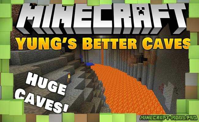 Мод Better Caves Новые Пещеры