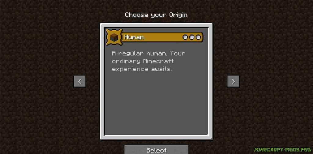 Мод origins - Происхождение скриншот