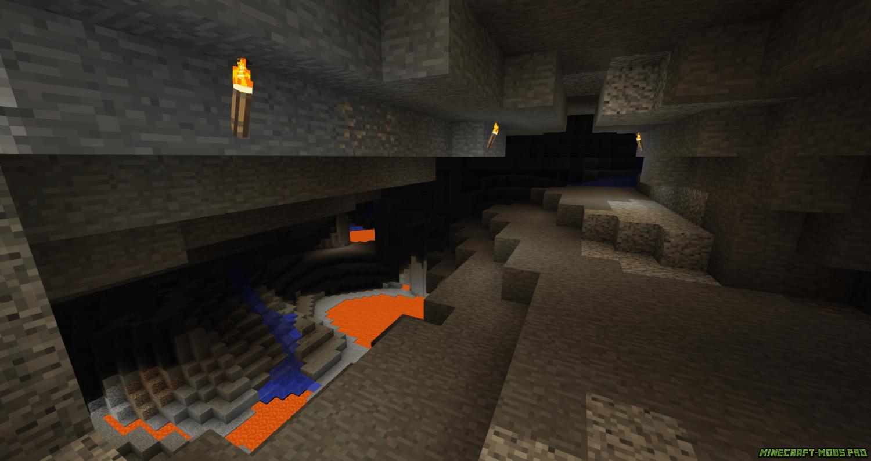 фото Мод Better Caves Новые Пещеры