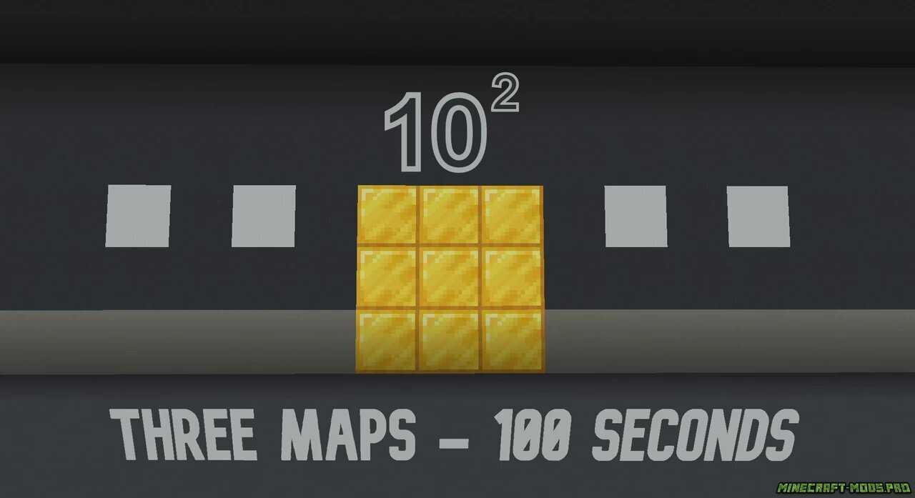 Карта Головоломка 10 в квадрате Спидран