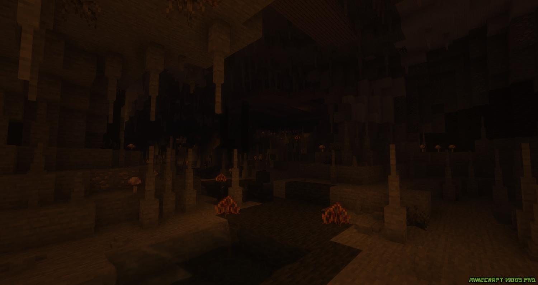скриншот фото Мод Better Caves Новые Пещеры