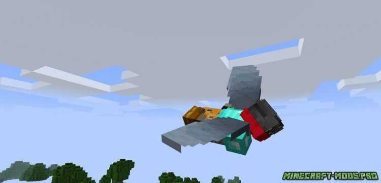 скриншот фото Мод Colytra Крылья с Бронёй