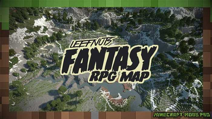 Карта Фэнтези-ролевая игра Leefnuts