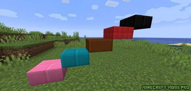 скрин Мод Новые Цветные Блоки