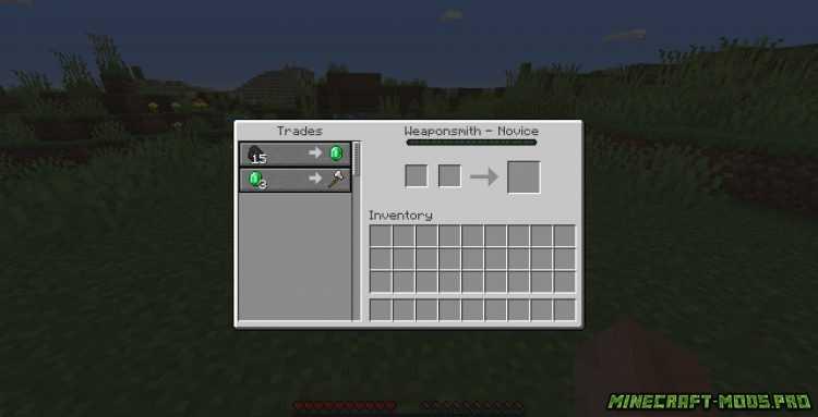 Мод Easy Villager - Жители в Ящиках скриншот