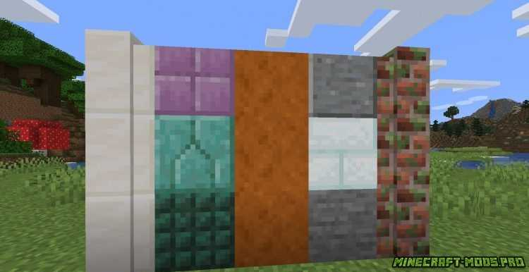Мод FabricBlocks  Фабрик Блоки скриншот