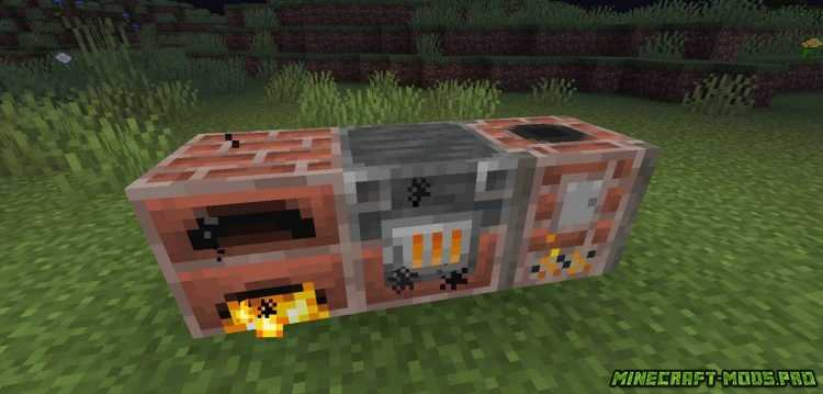 скриншот фото Мод Brick Furnace Кирпичная печь