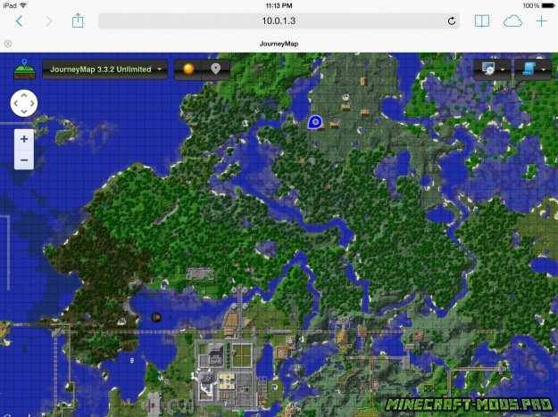 скрин Мод Карта JourneyMap