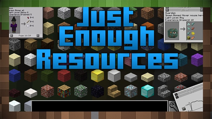 Мод Just Enough Resources (JER)