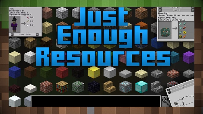 Мод Just Enough Resource