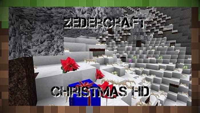 Рождественский Текстуры Zedercraft HD