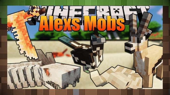 Мод Alex's Mobs - Новые Мобы