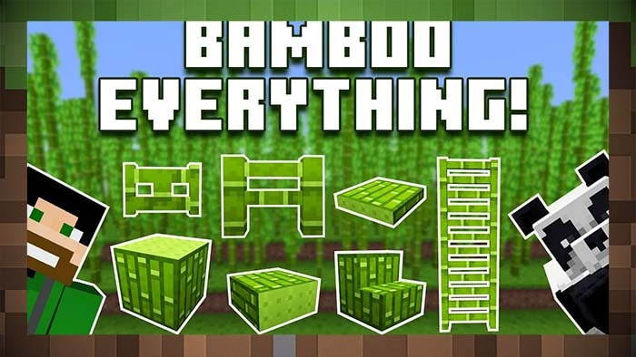 Мод BAMBOO EVERYTHING Предметы из Бамбука
