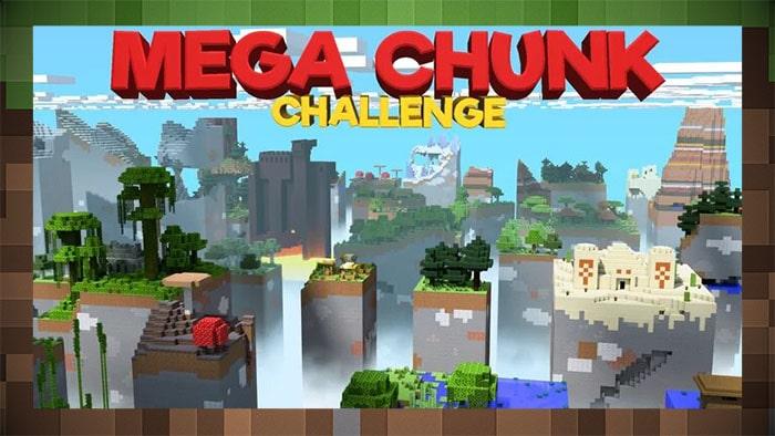 Карта Выживание Mega Chunk Challenge