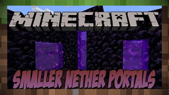 Мод Smaller Nether Portals (маленький портал)