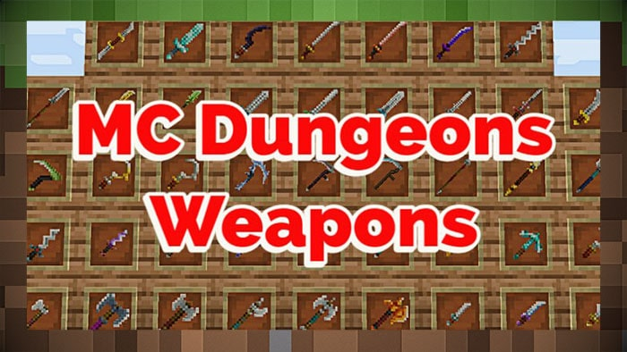 Мод Оружие MC Dungeons Weapons