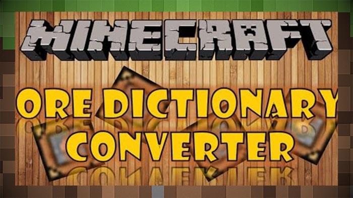 Мод Auto Ore Dictionary Converter