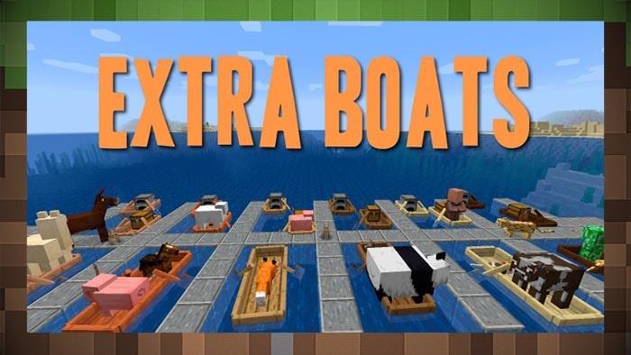 Мод Extra Boats Новые Лодки